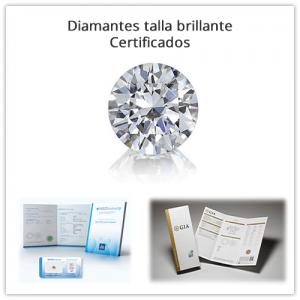 Diamantes sueltos certificados talla brillante (redondos)