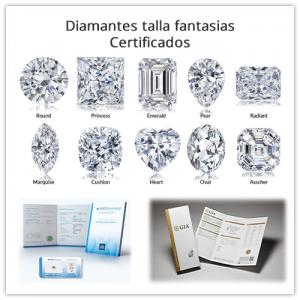 Diamantes sueltos certificados talla fantasía (no redondos)