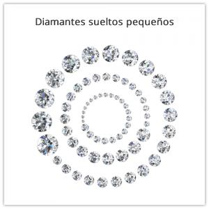 Diamantes pequeños sueltos de 0.01 a 0.15 ct.