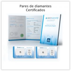 Pares de diamantes certificados