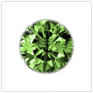 Diamantes de color Emerald green