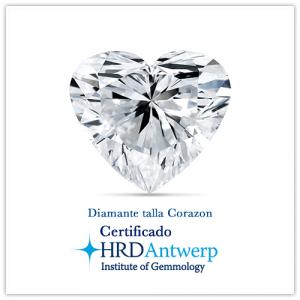 Diamante talla corazon